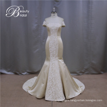 High Quality off Shoulder Cheap Champagne Wedding Dresses