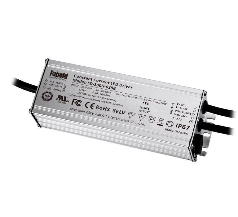 Dimmable street lights driver