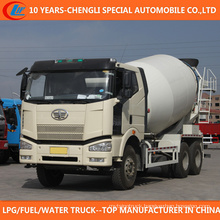 10 Wheels FAW Big Capacity Mobile Concrete Mixer Truck
