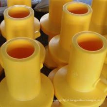 Peças de máquinas de moldagem por injeção com cor amarela