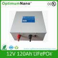Bateria 12V 120ah LiFePO4 para armazenamento solar
