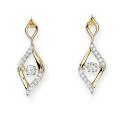 Gold Plate 925 Boucles d'oreilles en argent Bijoux en diamant de danse