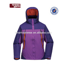 228T Nylon taslon revestido de PU impermeável e windproof jaqueta de mulheres