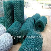 Treillis hexagonal enduit de PVC (manufacture)