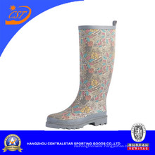Fashion Ladies Colorful Adjustable Rubber Rain Boots