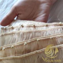 Cheveux de trame de machine personnalisés avec des perles