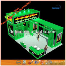Island shape trade show equipment with exhibition booth construction exhibition stand design