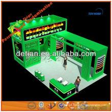 Equipamentos de show de comércio de forma de ilha com design de estande de exposição de construção de cabine de exposição