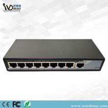 Interruptor POE econômico da câmera 8chs do CCTV de WDM