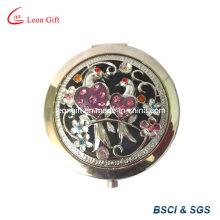 Meilleur cadeau métal haute qualité gravée miroirs cosmétiques