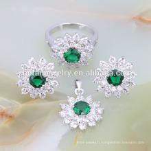 Haute qualité perles africaines 925 argent costume ensemble de bijoux