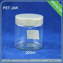 Round PET grossistes Emballage cosmétique jar body care Jarretière en crème