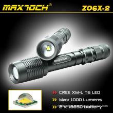 Maxtoch ZO6X-2 alta potencia Zoom foco Cree LED linterna