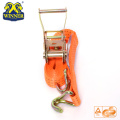 Ratchet Strap Buckle Tie Down With Double J Hook