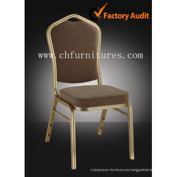 Apilamiento de silla de hotel de aluminio para banquetes y sala de bodas (YC-ZL22)
