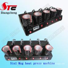 Professional Combo Digital 5in1 Mug Heat Press Machine 5in1 Mug Heat Transfer Machine Coffee Mug Printing Machine Stc-Kb06