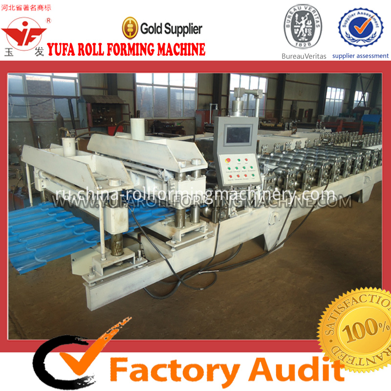 1100 color steel glazed tile roll forming machine