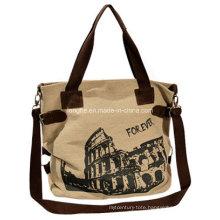 Casual Canvas Ladies Shoulder Handbag (ZXS0025)