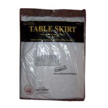 Saia de mesa (PEVA, PE, PVC, Polyster), saia de mesa de plástico