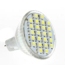 Substituição do halogênio 12V DC MR11 Gu4 24 3528 SMD Lâmpada do bulbo do projector do diodo emissor de luz