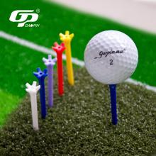 T-shirts de golf multicolores durables en plastique à 5 broches