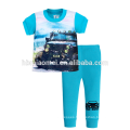 New Fashion Printed Short Sleeve Girl Kids Cotton Sleepwear Suits Childrens Pajamas Wholesale