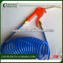 Excellent material Blue PU coil hose air blow gun