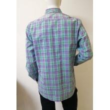 Мужская деловая рубашка с длинным рукавом в клетку из 100% ХЛОПКА