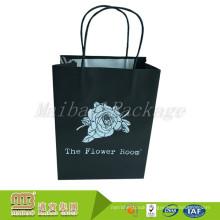 Custom Make Decorative Hot Sale Flower Design Gift Paper Bag