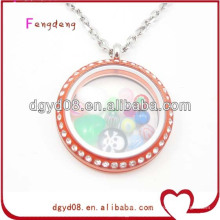 Hot Sale memory Glass Pendant with CZ stone