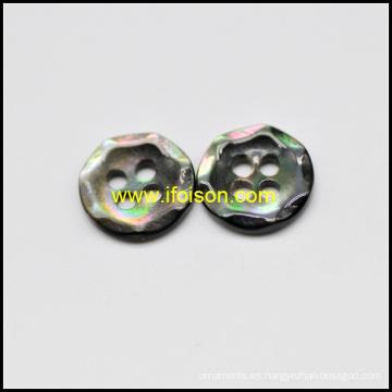 Traje negro madre de Shell botones para camisa