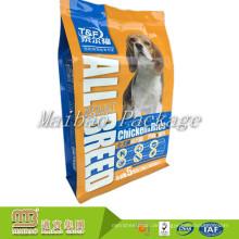 Nehmen Sie Logo-Druck der wiederverwendbaren Reißverschluss-Aluminiumfolie-Katze / Hundefutter-Haustier-Beutel-Verpackung der kundenspezifischen Größen-5Kg an