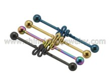 Body Jewelry Industrial Barbell (6407BK)