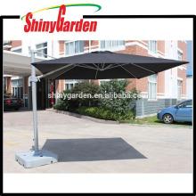 3 * 3M que hace publicidad del paraguas grande voladizo de aluminio del patio al aire libre de Roma, paraguas de la línea del jardín