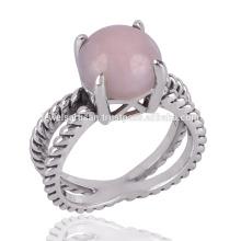 A Beautiful Pink Opal 925 en argent à la main GemStone Ring à elle