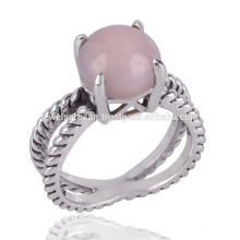 A Beautiful Pink Opal 925 Silver Handmade GemStone Ring to Her