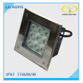 IP67 Outdoor Landscape 9W Underground LED Light with Square Design