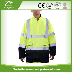 Waterpoof High visibility Reflective Winter Safety Jacket