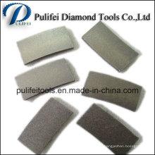 Lâmina de diamante segmento de corte de granito de mármore arenito pedra de lava