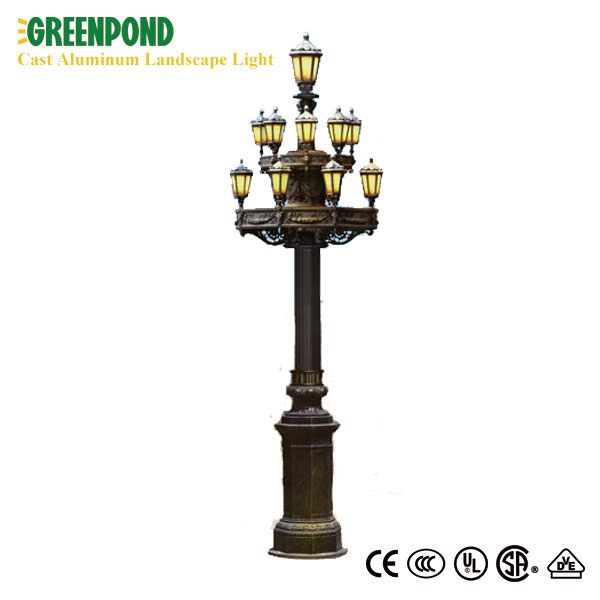 24W Bright Porch Landscape Pillar Aluminum Light