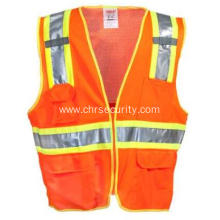 Men's Hi-Vis Fluorescent OrangeYellow Surveyor Vest