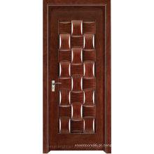 Porta de alta qualidade da entrada da casa de campo de madeira luxuosa Porta de alta qualidade