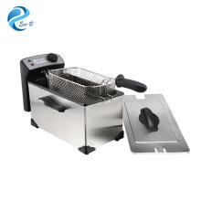 2017 Venta Caliente Electrodomésticos de Cocina Usados en el Hogar Plata 3.0L Termostato General Controlado Freidora Eléctrica Profunda