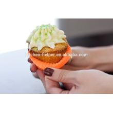 BPA бесплатно 12 Cup Силиконовые кексы Cupcake выпечки Палочки, Силиконовые выпечки булочки сдобы