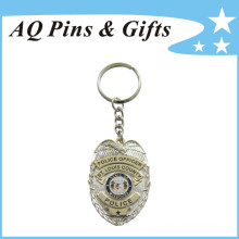 Porte-clés police avec émail doux (porte-clés-098)
