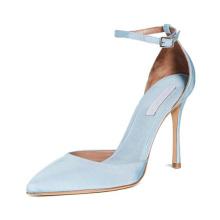 White Women Stiletto Soft Leather Work High Heels Hollow Strap Sandals