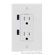AC USB Wall Outlet(Dual USB Wall Socket