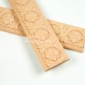Неокрашенная отделка мебели резными цветочными линиями из дерева