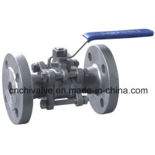Stainless Steel Three Pieces Flanged Ball Valve