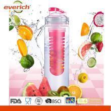 2015 Nova garrafa de água do Infator de frutas Tritan com um grande infusor